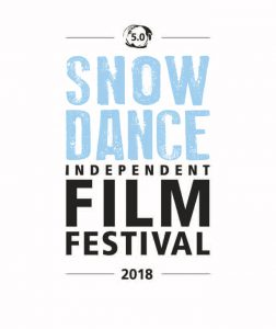 Snowdance Independent Film Festival Logo 2018 mit weißem Hintergrund.